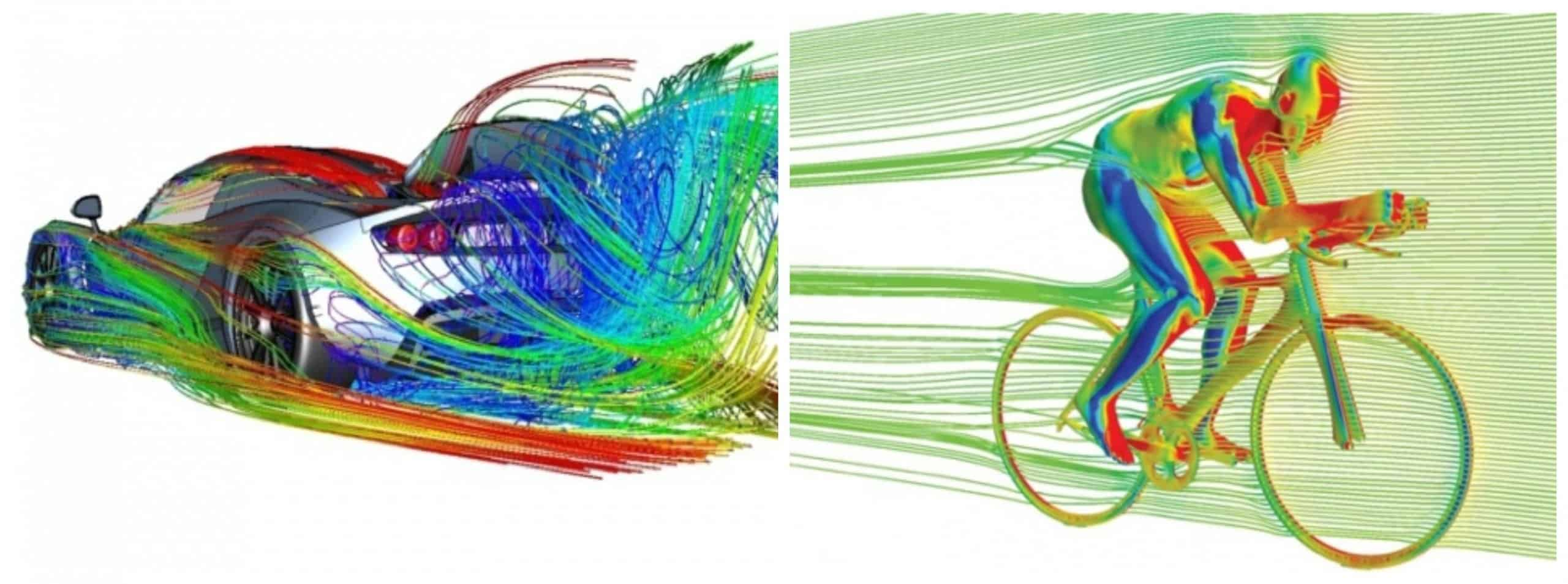 Aerodynamics CFD scaled