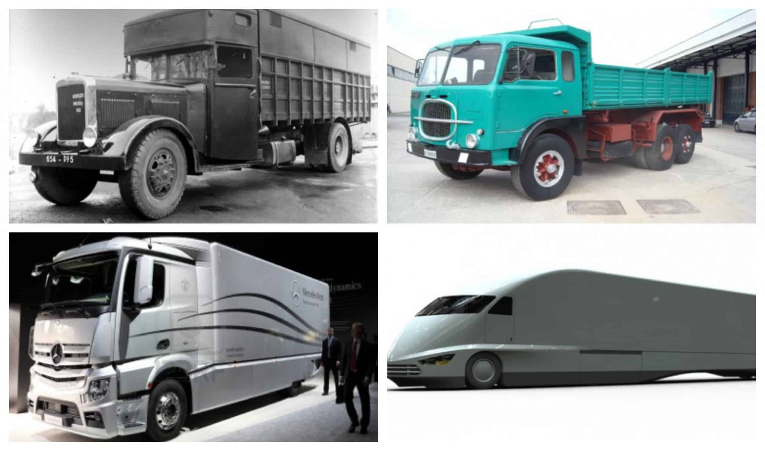 Truck evolution scaled