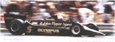 F1 Lotus with side-skirts on the muzzle