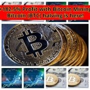 Bitcoin Halving: Earn money with best Crypto Mining UP
