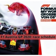 On the Way to Austria GP 2020: race schedule