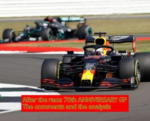 After the race: 70th ANNIVERSARY GP