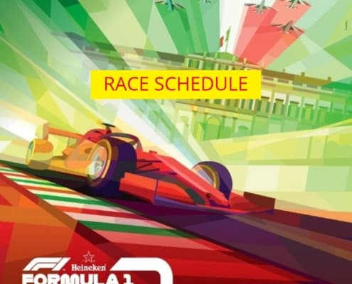 Race schedule Italian GP F1